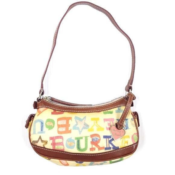 Dooney & Bourke Handbags - Vtg Dooney & Bourke Doodle Alphabet Scribble Bag